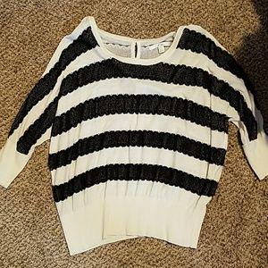 Lauren Conrad black and white striped top